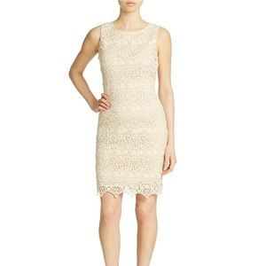 Belle Badgley Mischka Ivory Lace Dress